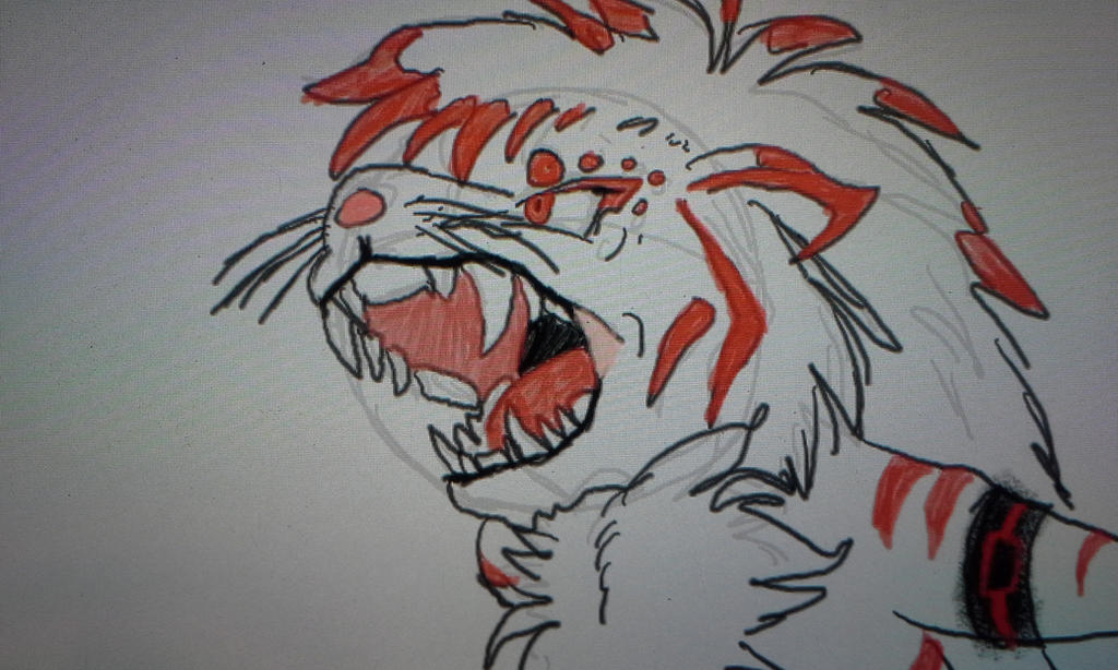 mobian leon roaring by blackzero04