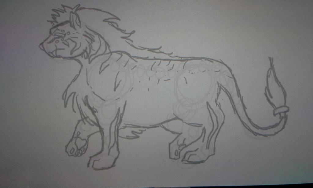 Liger form no color by blackzero04
