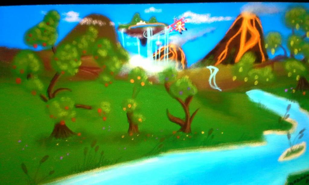 sonic's world arould his island  by blackzero04