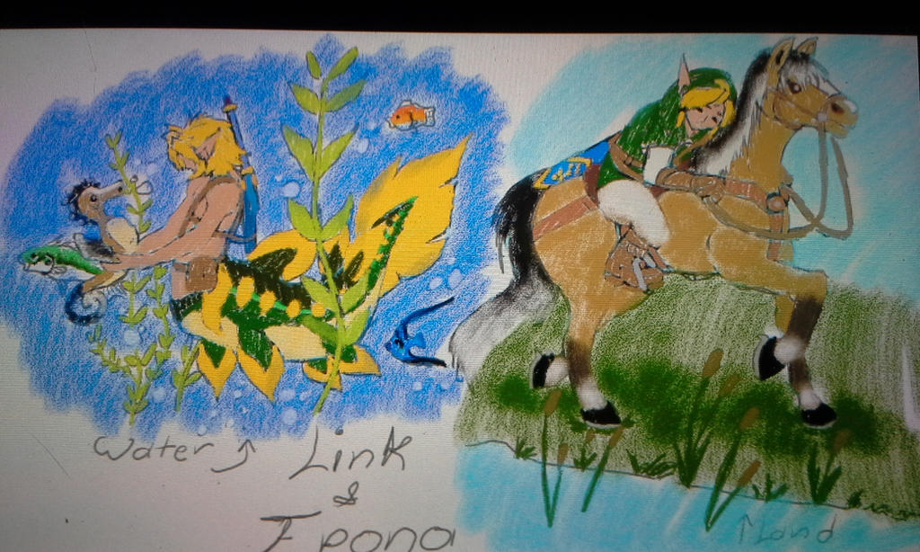 water and land link and Epona by blackzero04