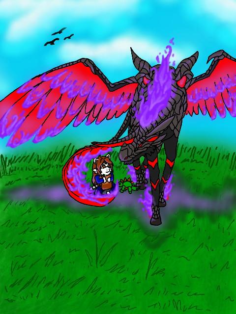 Pestilence ( Cinder ) and Kid Amanda by blackzero04