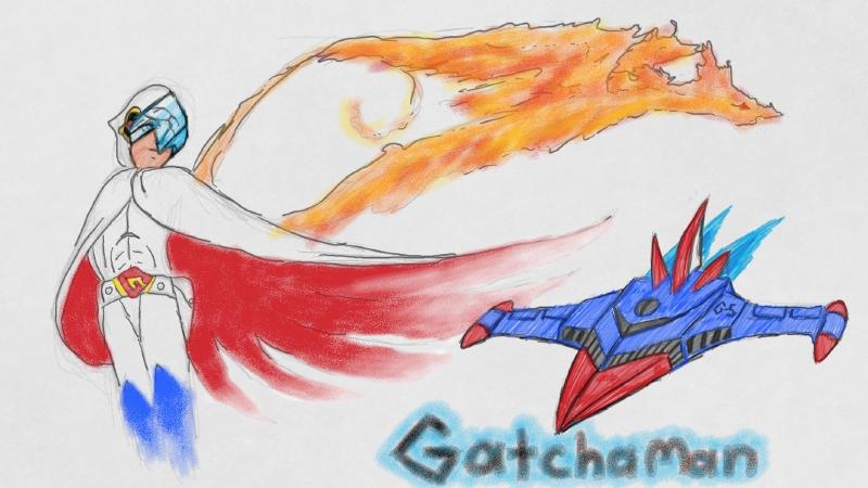 Gatchaman Art acadomy SketchPad by blackzero04