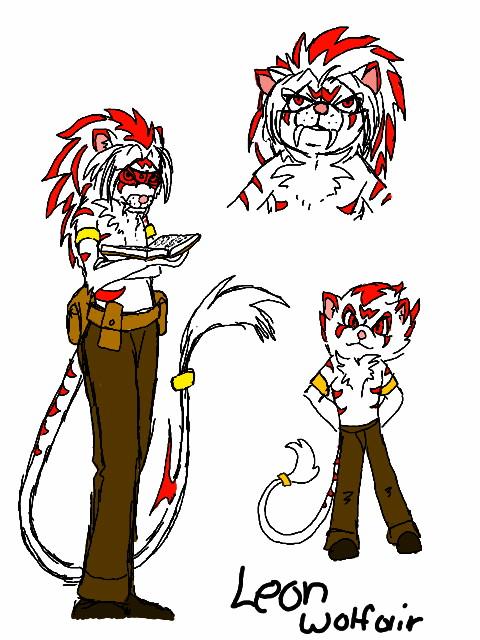 Leon Wolfair Character sheet by blackzero04