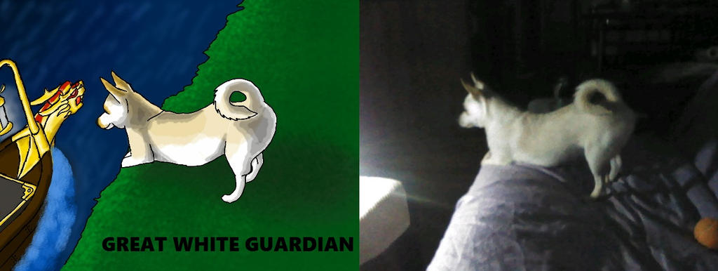 Art and photo   Great White Guardian by blackzero04