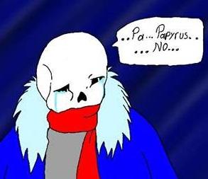 Sans is sad by blackzero04