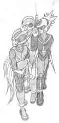 Megaman Zero Maverick Hunters by blackzero04