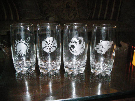 ASOIAF House Glasses