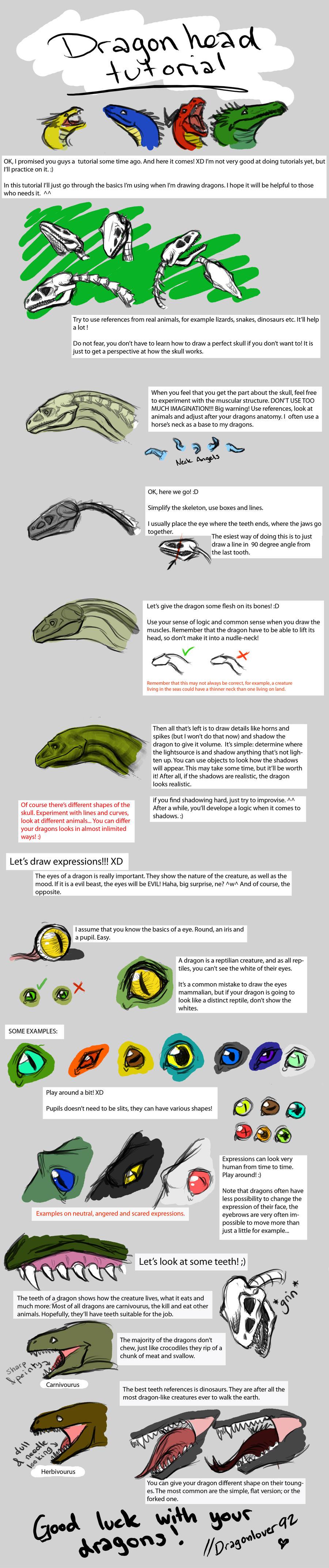 Dragon head tutorial by Dragonlover92