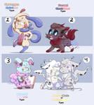Pokemon Adopts 1   OPEN   (4/4) by EyeSpy-Adopts