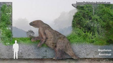 Megatherium by SameerPrehistorica