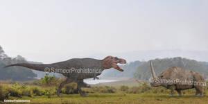 Tyrannosaurus Rex vs Elasmotherium