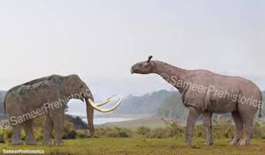 Paraceratherium vs Steppe Mammoth