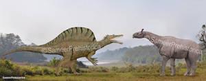 Spinosaurus vs Paraceratherium