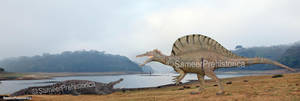 Spinosaurus vs Deinosuchus