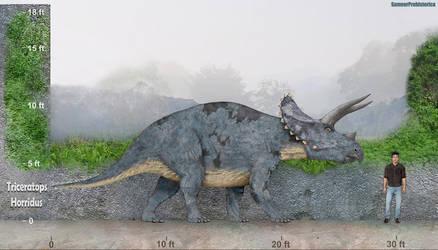 Triceratops by SameerPrehistorica