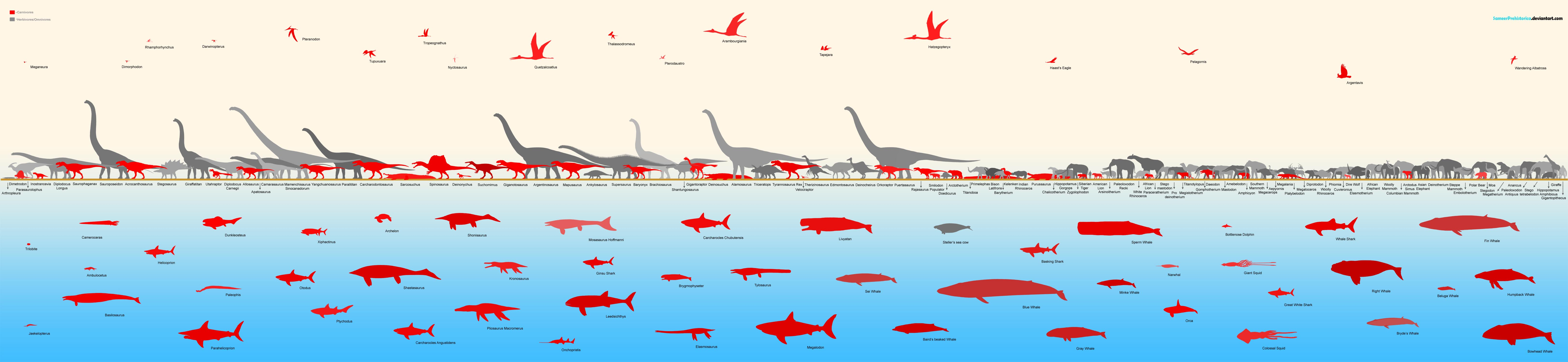 Animals Chart by SameerPrehistorica