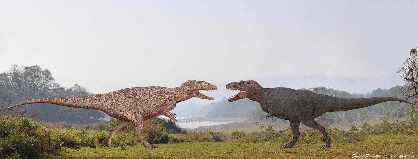 Carcharodontosaurus vs Tyrannosaurus Rex by ...