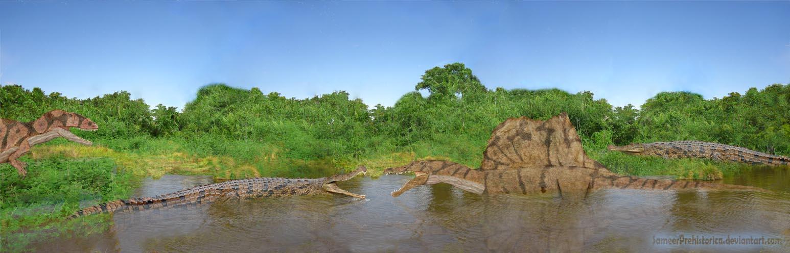 Spinosaurus vs Sarcosu...