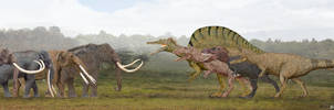 Proboscideans vs Theropods