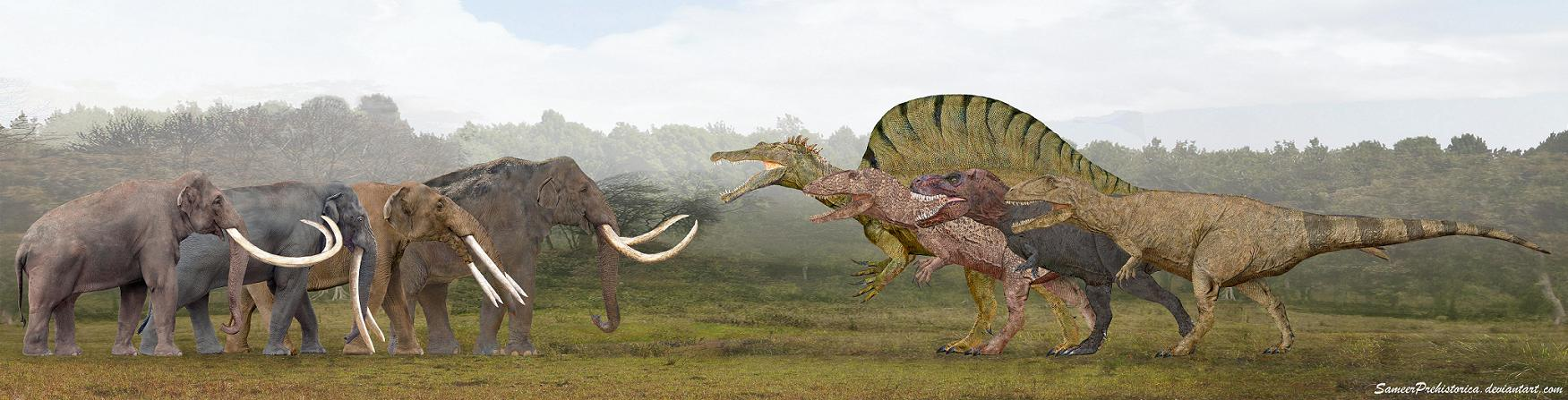 Proboscideans Vs Theropods | Dinosaur Home