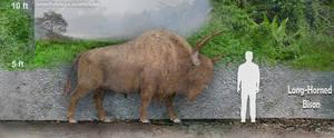 Long-Horned Bison by SameerPrehistorica