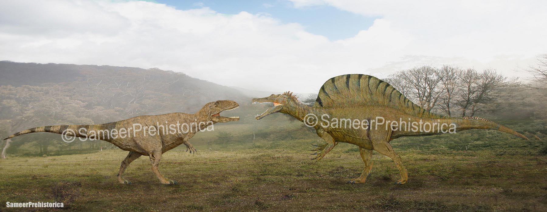 Giganotosaurus vs Spinosaurus