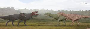 Tyrannosaurus vs Carnosaurs