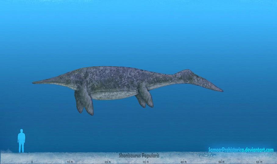 shonisaurus dinosaur home