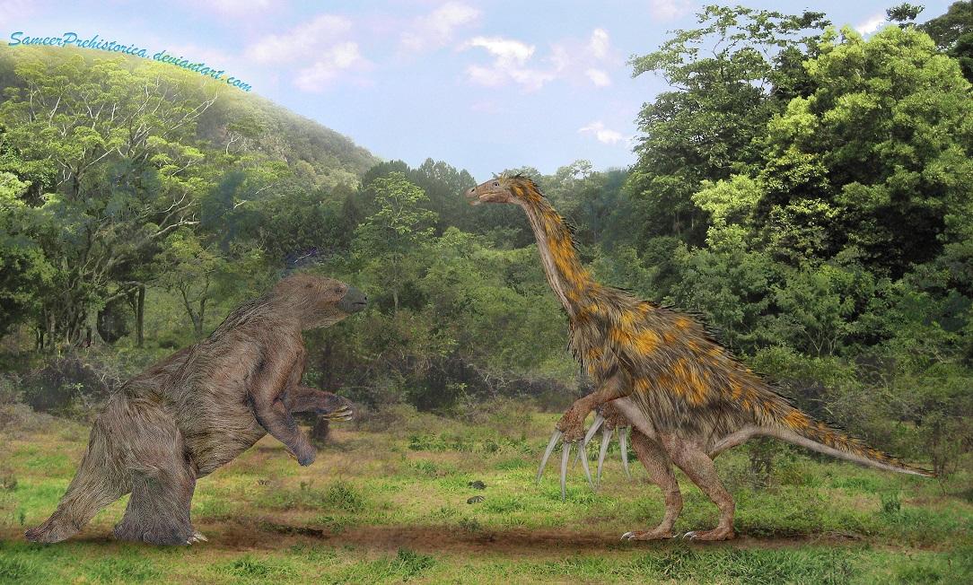 Megatherium vs Therizinosaurus