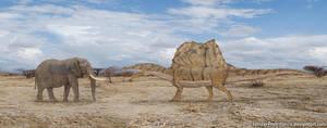 African Elephant vs Spinosaurus