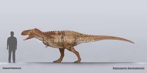 Rajasaurus Size
