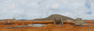 Carcharodontosaurus vs Spinosaurus vs Sarcosuchus