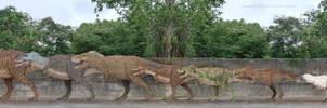 Tyrannosauridae by SameerPrehistorica