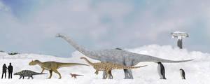 Antarctic megafauna by SameerPrehistorica