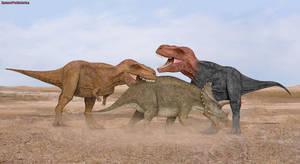 Tyrannosaurus Rex vs Triceratops