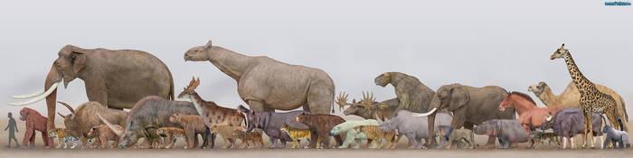 Megafauna - Mammals by SameerPrehistorica