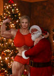Christmas Special Comic | Tammy and Bad Santa by MuscleVilleGames