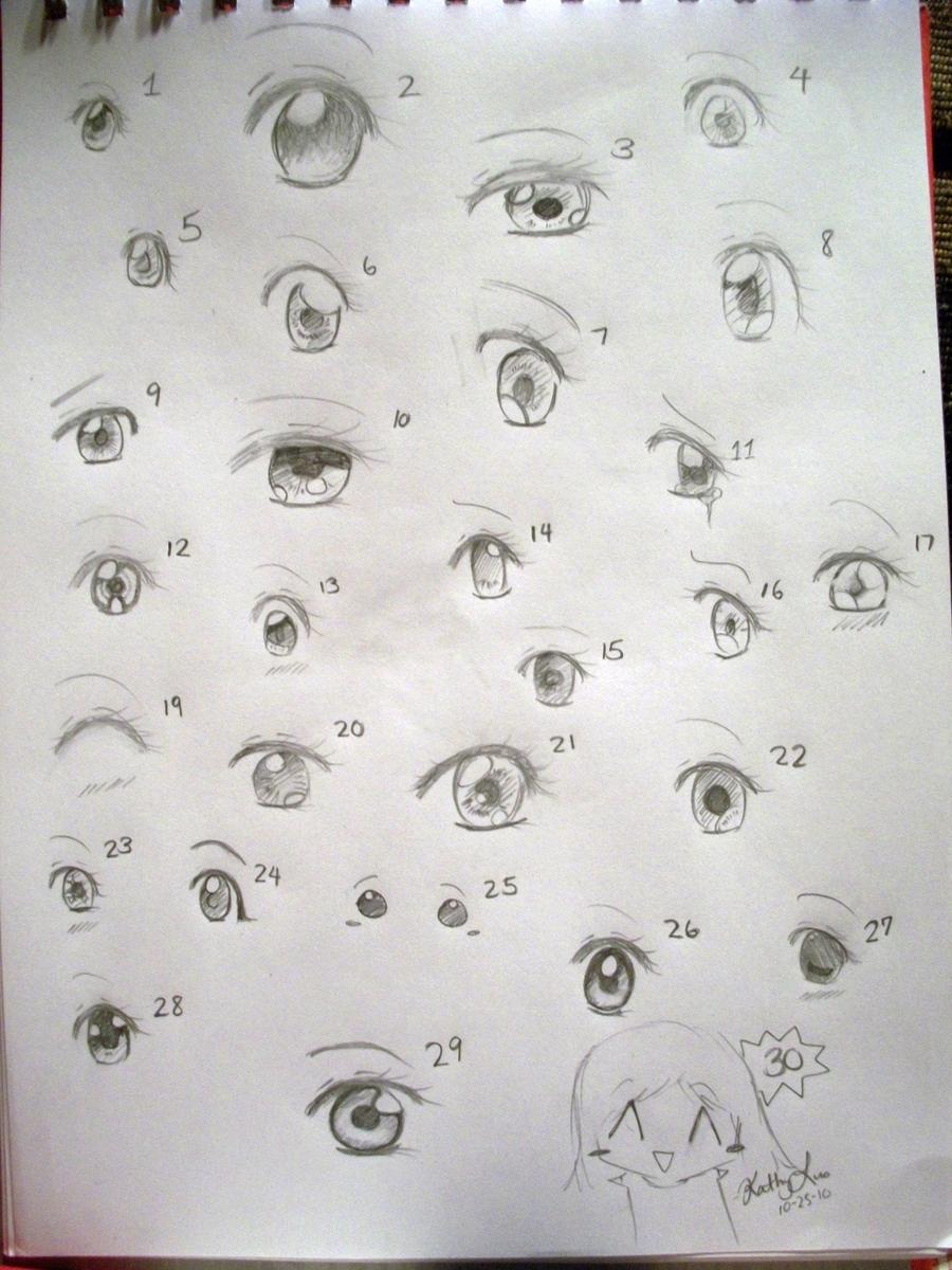 30 Ways To Draw Anime Eyes By Luoka