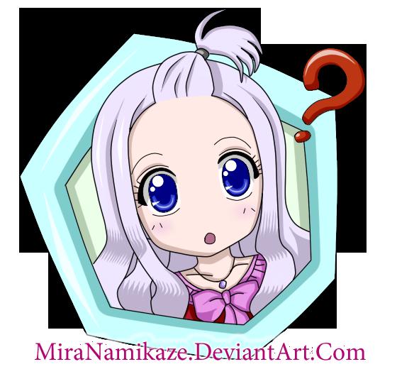 Mira Chibi by MiraNamikaze on deviantART Fairy Tail Chibi Mirajane