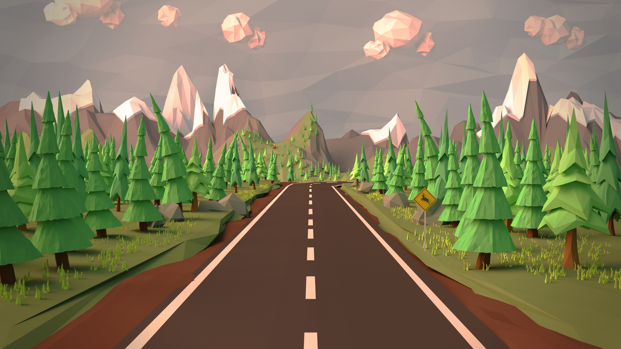 Open Road Low Poly Wallpaper By Leprekhaun On Deviantart