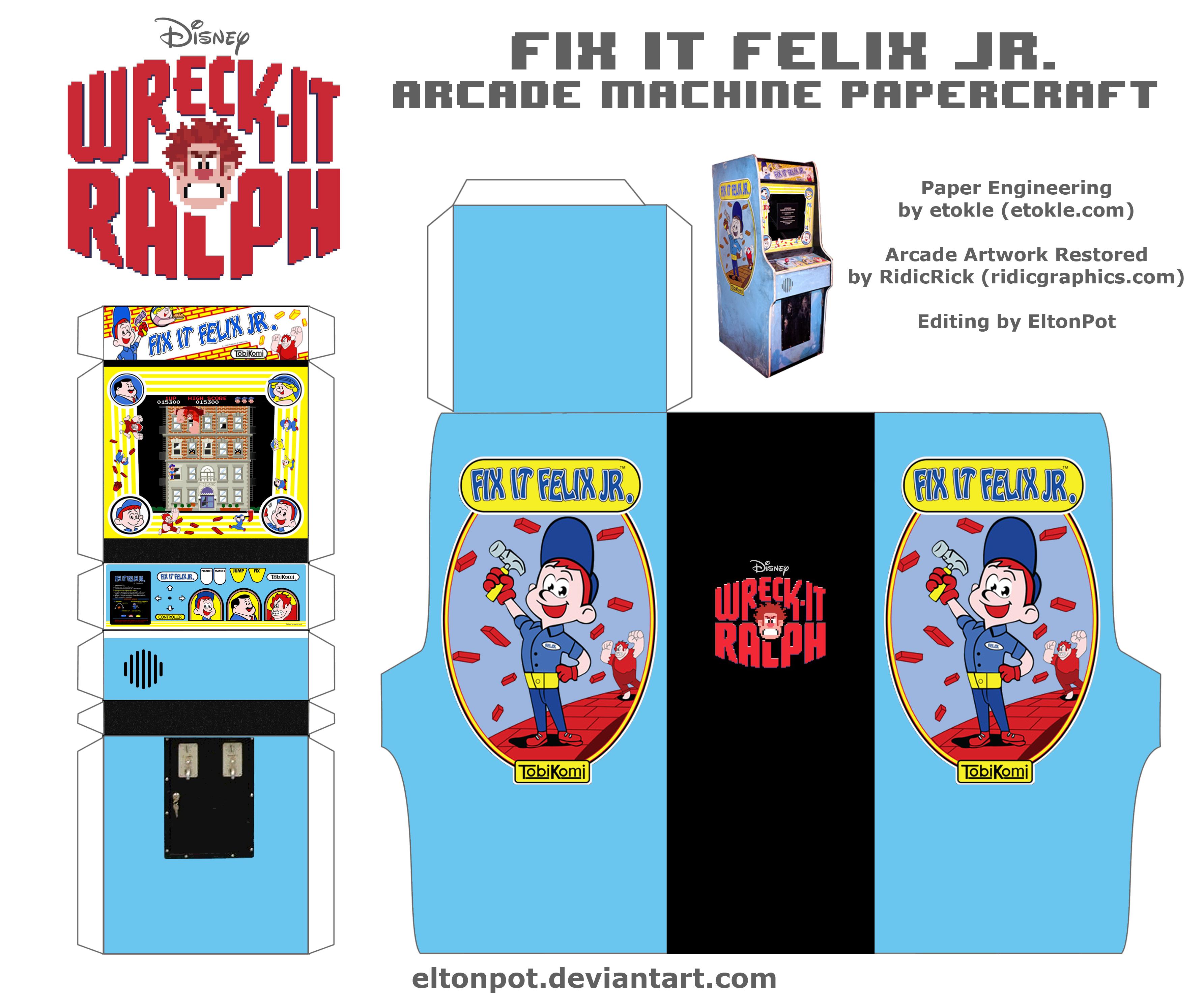 Fix It Felix Jr. Arcade Papercraft by eltonpot on DeviantArt