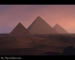 Giza Pyramids by Tibys