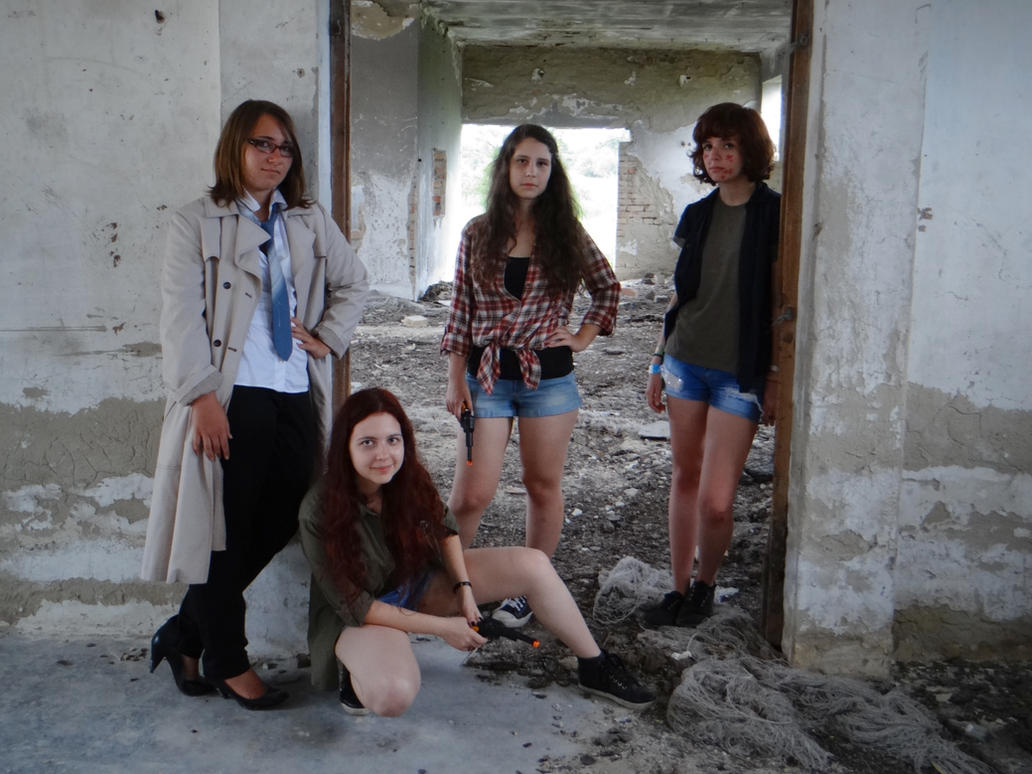 fem!SUPERNATURAL cosplay group photo by Kitty-Cross