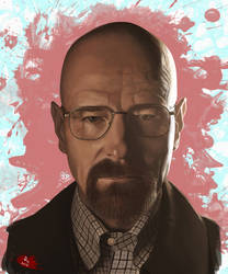 BREAKING BAD PAINTING: WALTER 'HEISENBERG' WHITE by danb13