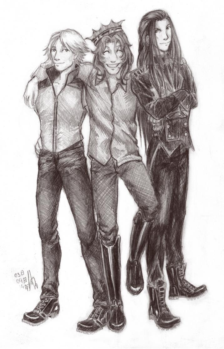 Happy Three Friends by LuuPetitek