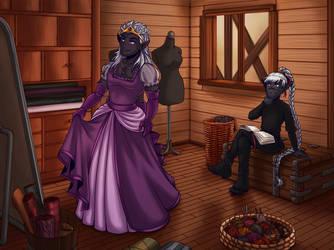 The purple one looks better (commission) by LuuPetitek