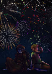 Those fireworks in us (commission) by LuuPetitek