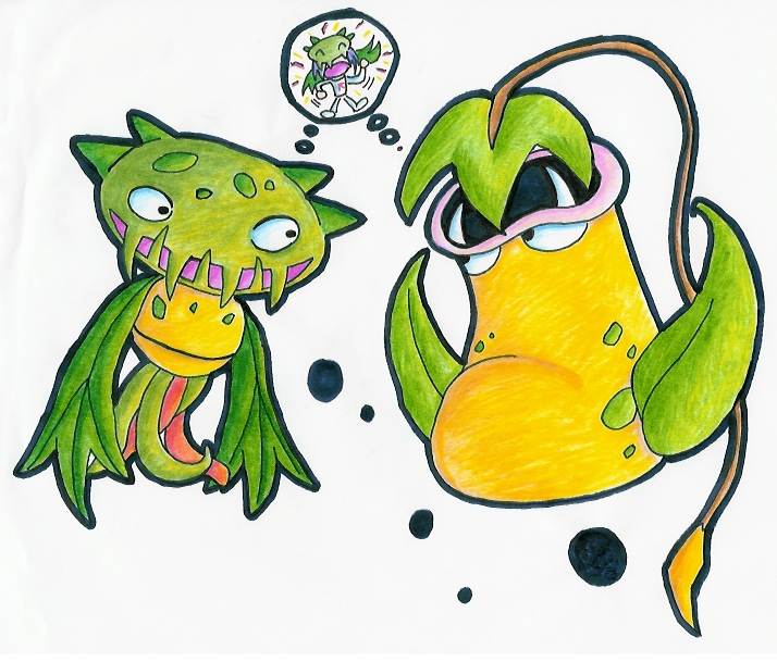 Carnivine  Victreebel Attack by zekkPokemon Victreebel James