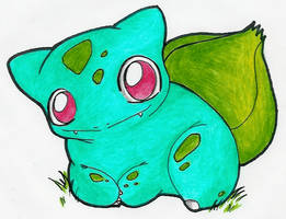 Li'l Bulbasaur by zekk