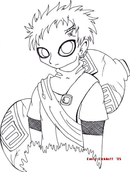 gaara coloring pages - photo#49